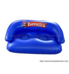 Inflatable sofa with print
