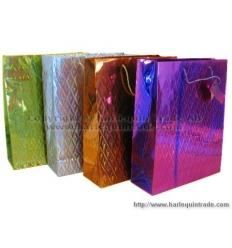 Glittrig papperskasse