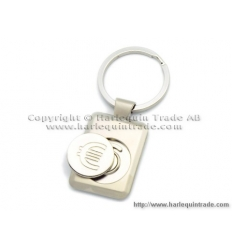Key holder with trolley coin