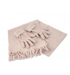 Fleece handskar och scarf