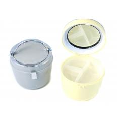 Round makeup box