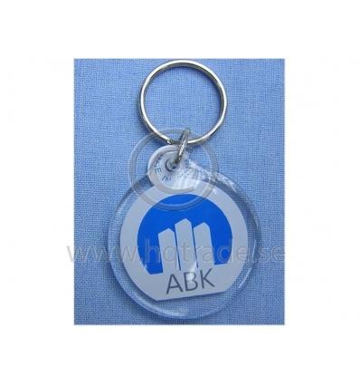 Rund nyckelring med tryck - Import   tillverkning för promotion ... 6926de0b6fc46