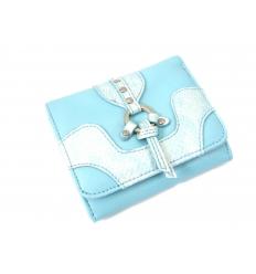 Ljusblå plånbok