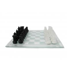 Schackspel i glas