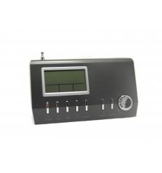 LCD kalender med FM radio