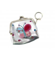 Keychain purse butterfly