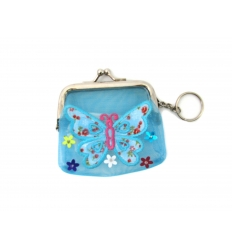 Keychain purse with butterfly