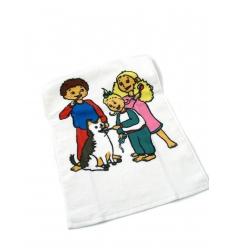 Handduk med tryck