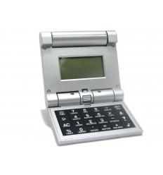 Vikbar miniräknare med världstid