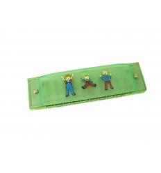 Plastic harmonica