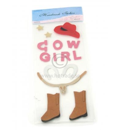 Cow Girl klistermärke