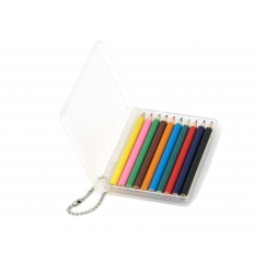 Coloured pencils with key chain.