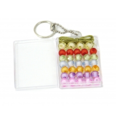 34 Pearls with one string in plastic box with keychain
