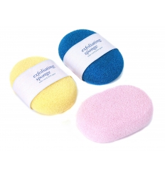 Oval body bath sponge w/o paper band