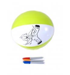 Beach ball with markers