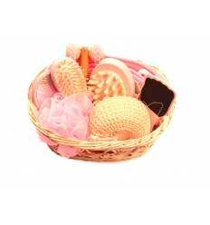 Massage set in basket