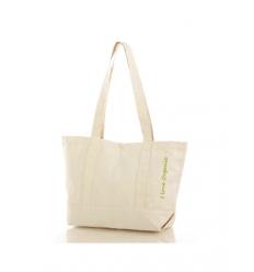 Shoppingbag med bälg och knappstängning