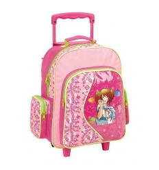 Travel bag with wheels for children