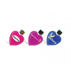 USB flash drive - heart shaped