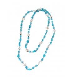 Turkosfärgat halsband