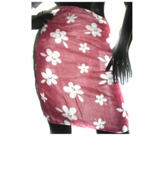 Pareo with flower pattern