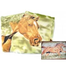 Pläd i häst-design