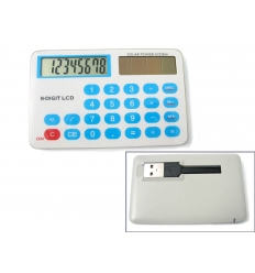 Calculator with USB flash drive