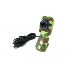 Camouflage-färgad webbkamera