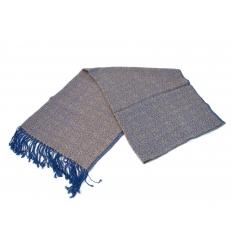 Blue and beige shawl
