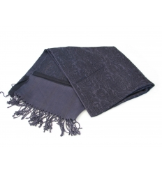 Darkpurple jacquard shawl