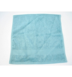 Green bamboo face towel - small