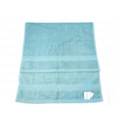 Green bamboo face towel - medium