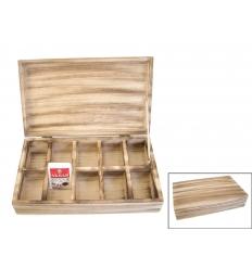 Te-låda i trä