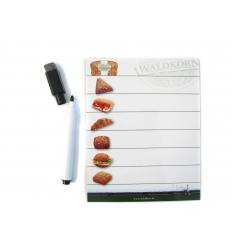 Magnetisk anteckningbricka med penna