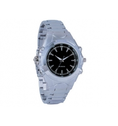 MP3 watch - silver and black