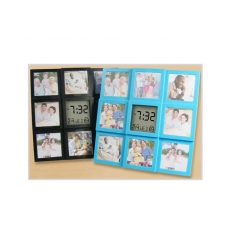 Photo frame with LCD clock