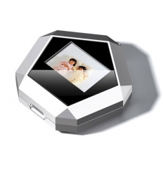 Box with digital photo frame