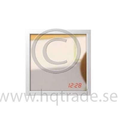 Wall mirror with digital clock