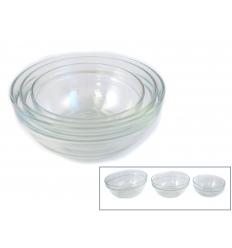 Glasskål i set