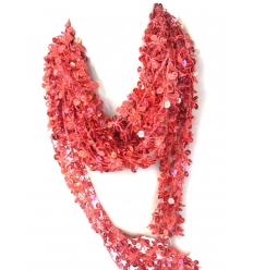Red shawl with sequins