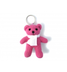 Pink bear in keychain