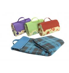 Färgglada picknick-filtar