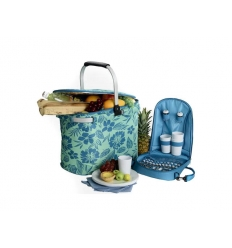 Picnic cooler basket for 4 persons