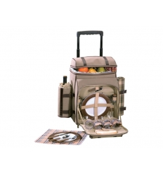 4 person picnic backpack with trolley