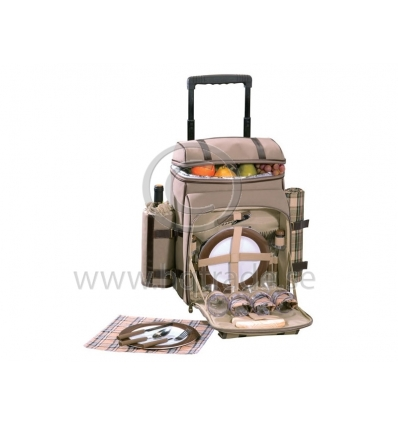 Dragbar picknickväska för 4 personer