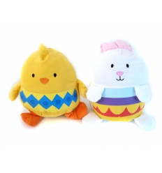 Chicken and easter bunny