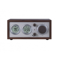 Retrodesigned clock radio