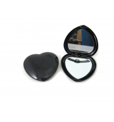 Heartshaped pocket mirror
