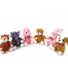 6 sorterade djur