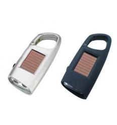 Solar torch - carabiner hook